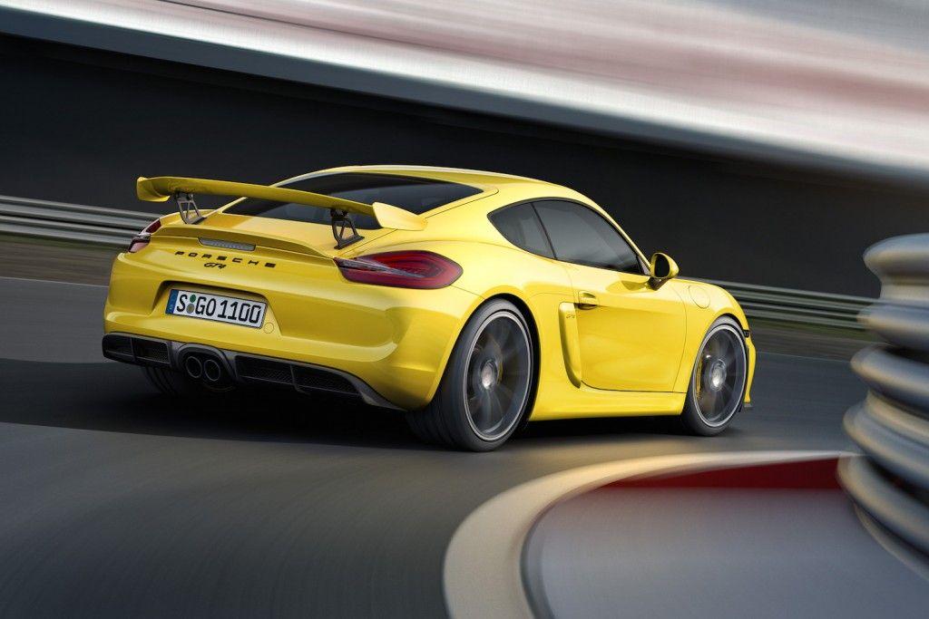 Porsche GT4 Hinten Seite