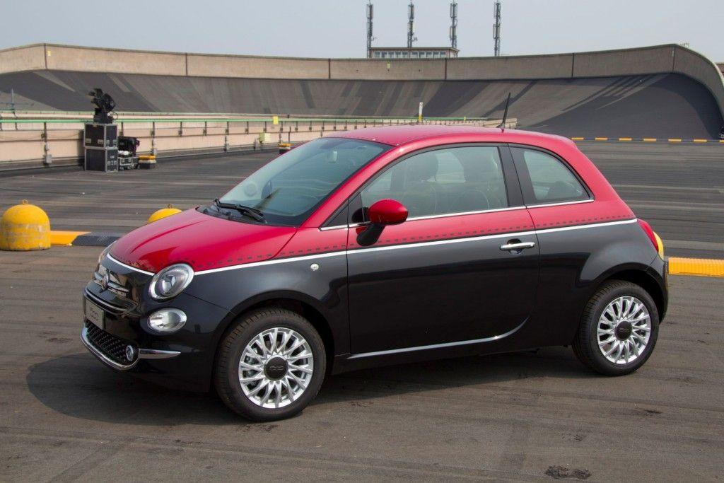 Fiat 500 2015 Lingotto Teststrecke Steilkurve Seitenansicht