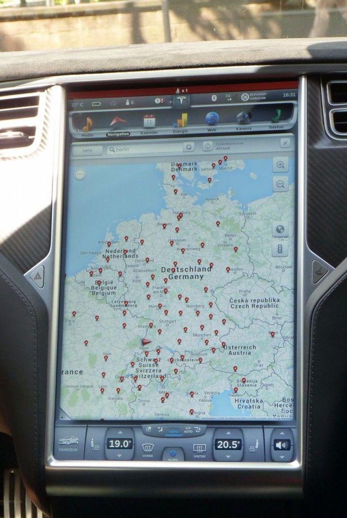 Supercharger-Übersicht Tesla 2015