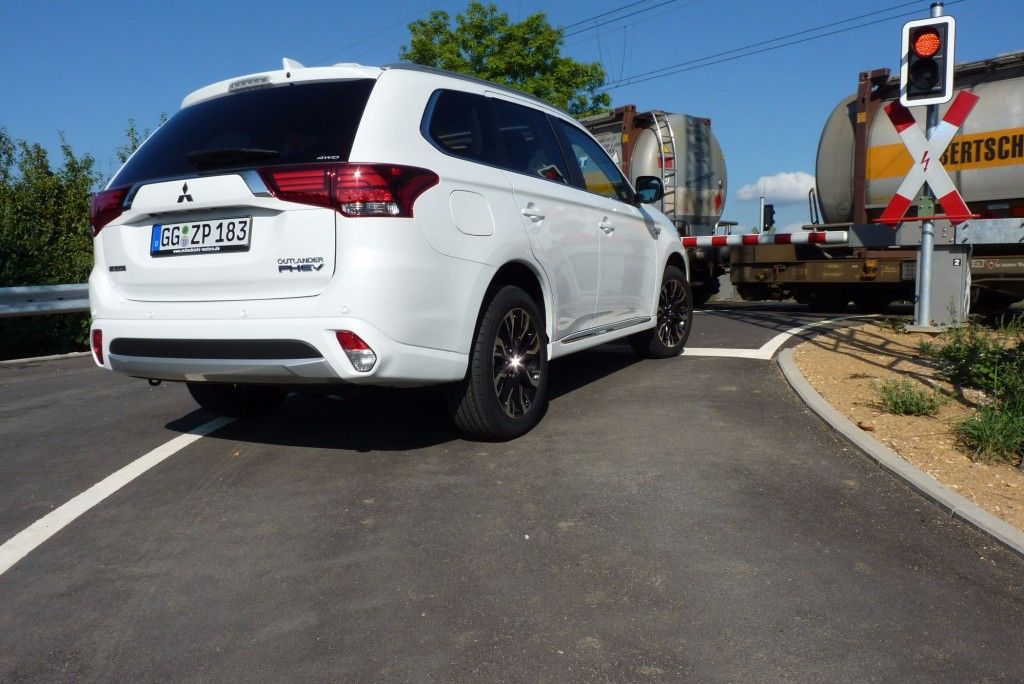 Mitsubishi Outlander Plug-in Hybrid Heckleuchte 2015