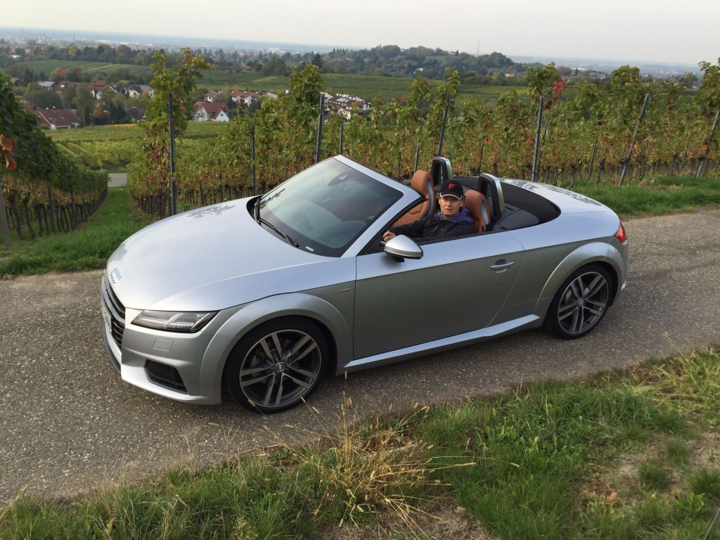 Audi TT Roadster mit Autotester Friedbert