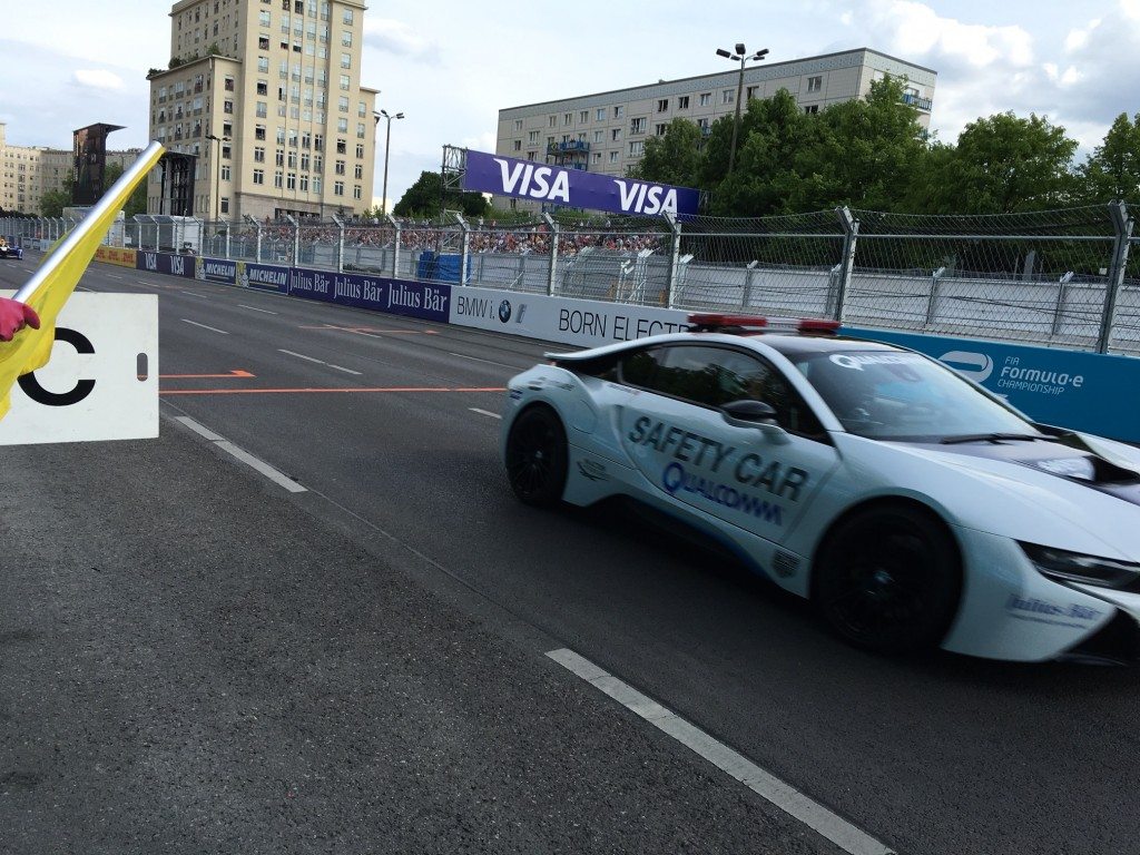 Safety Car mit Qualcomm Technologie bei der Formel E in Berlin