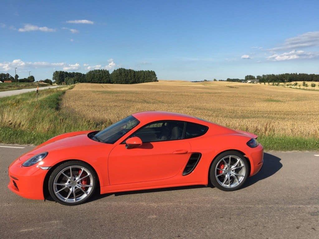 Porsche Cayman S Seitenansicht