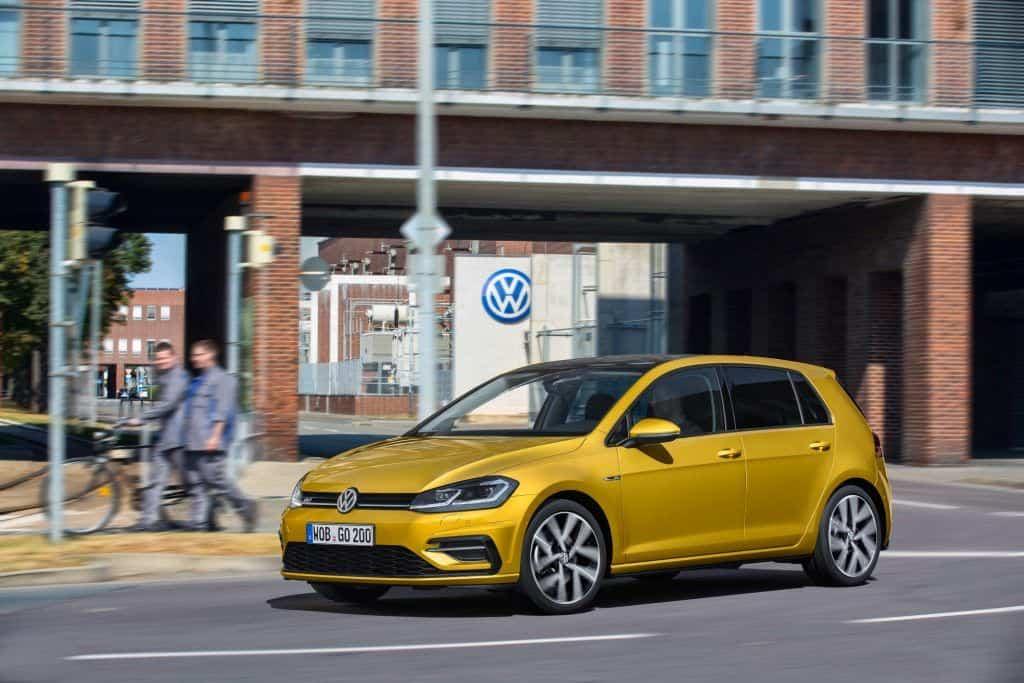 VW Golf Modelljahr 2017 Seitenansicht