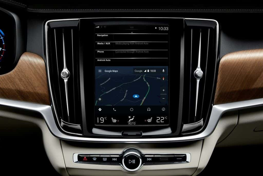 Android Auto mit Google Maps im Volvo