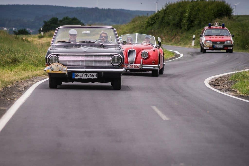 Opel bei der 23. ADAC-Oldtimerfahrt Hessen-Thüringen.