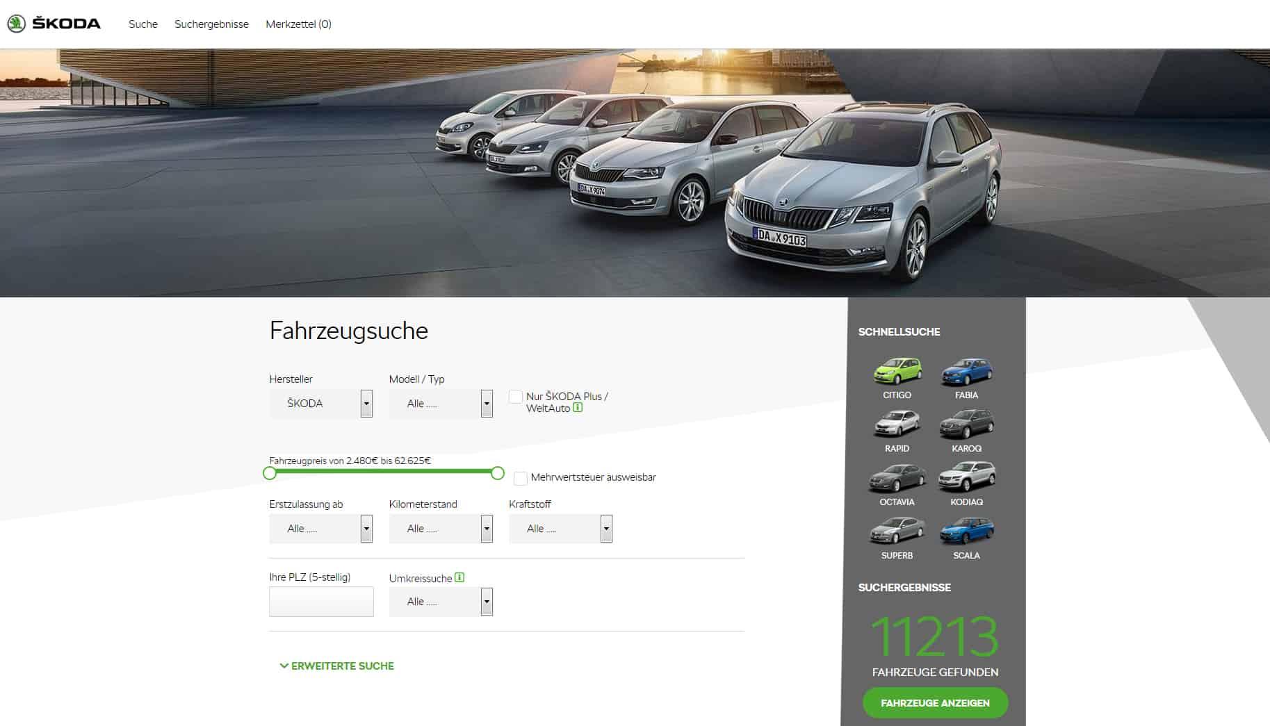 Skoda Online-Portal