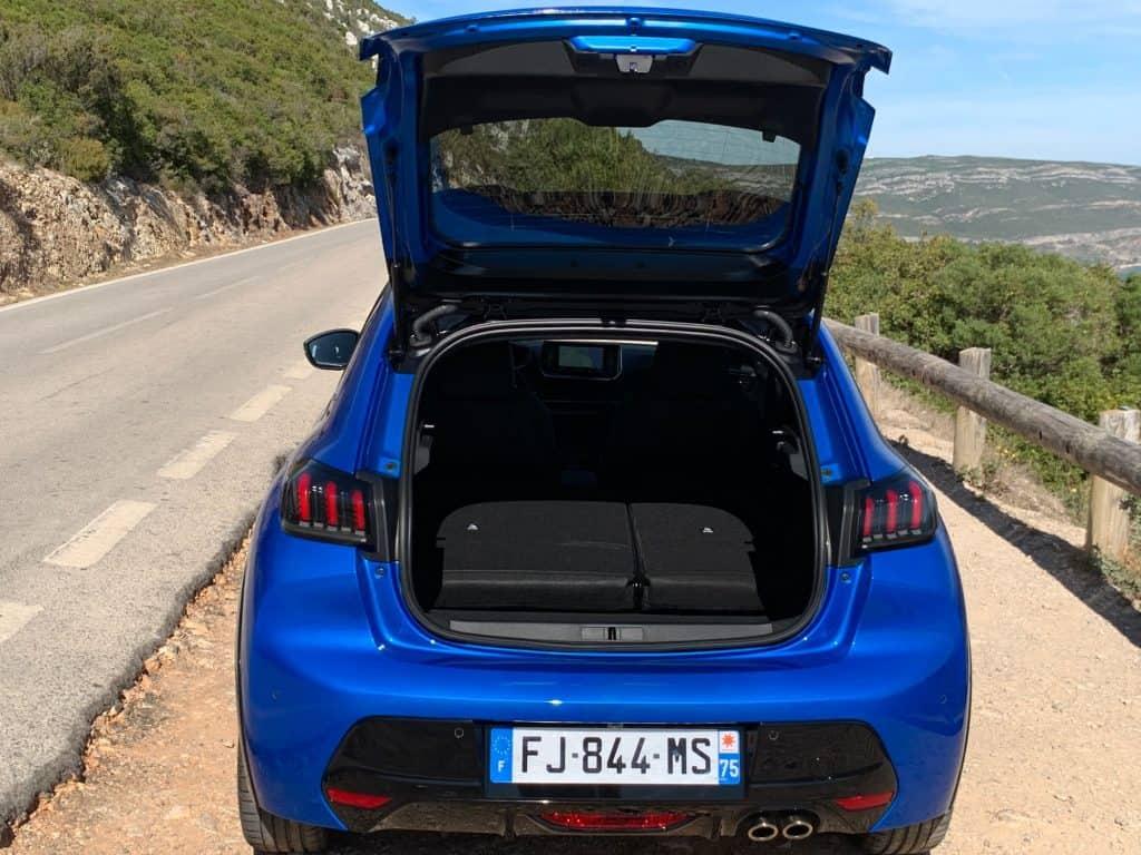 Peugeot 208, Gepäckraum