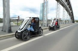 Schaeffler Bio-Hybrid Passenger auf Testfahrt in Frankfurt.